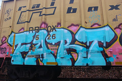 Fart (NJphotograffer) Tags: graffiti graff trackside track railroad rail art freight train bench benching boxcar box car fart