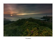 The Lighthouse... (Canconio59) Tags: landscape sea faro lighthouse costa coast cielo sky ocaso sunset nubes clouds meiras valdoviño galicia españa spain largaexposición longexposition
