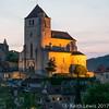 The church of Saint-Cyr at Saint-Cirq-Lapopie (keithhull) Tags: saintcirqlapopie church nightshot historic village perchedvillage lot france