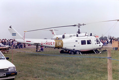 G-HUEY / AE-413 Bell UH-1H Iroquois cn 13560 Royal Air Force Benevolent Fund RAF Fairford 14Jul85 (kerrydavidtaylor) Tags: ffd egva h1 uh1 aviaciondeejercitoargentino malvinas