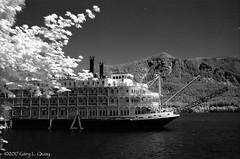 American Empress, Stevenson, Washington (Gary L. Quay) Tags: american empress sternwheel riverboat stevenson washington columbia gorge boat river water infrared film konica speed graphic 4x5 6x9 clayton