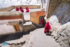 Key Monastery (manuj mehta) Tags: monastery monks spiti valley incredible india people red robe buddhist tibetian young kaza kalpa himachal pradesh himalayan ranges photography lonely planet travel unexplored discover amazingshot amazing peace key dhankar gompa