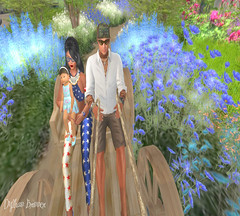 Garden ✿ (dylhanbrinner) Tags: sims sl pictures nature man woman girl baby catwa zooby child enfant dream slink zed hunter babies bébé mother father familly