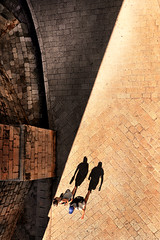 Escaping shadows (PentlandPirate of the North) Tags: shadows dubrovnik city walls walkers croatia sunshine people figures ~flickrinnes flickrinnes