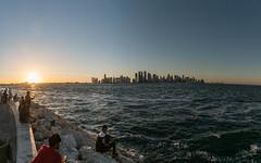 Doha Waterfront, Qatar (ReinierVanOorsouw) Tags: sonya7r sony middleeast middenoosten reizen travelling doha sonya7rii a7r a7rii reiniervanoorsouw reisfotografie reiniernothere reis reinierishere katar دولة قطر citytrip city citylife الدوحة катар 卡塔尔 panorama