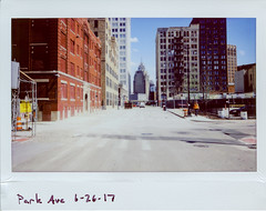 instaxwide037 (elsuperbob) Tags: detroit michigan downtowndetroit fujiflm instaxwide300 instax instantfilm skyscrapers skyline newtopographics