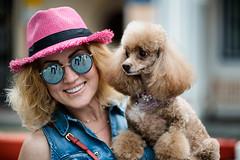 Svetlana (Jon Siegel) Tags: nikon d750 zeiss 100mm f2 zeiss100mmf2 woman portrait beautiful funny dog puppy pupper cute poodle hat portraiture singapore keongsaik rumparty