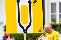 Sign during Tour de France