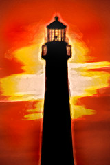 Artistic Sunset at CMLH 6-0 F LR 6-16-17 J277 (sunspotimages) Tags: artistic artwork impressionist impressionism impression digitalmanipulation lighthouse lighthouses capemaynewjersey capemaynj capemaylighthouse nj newjersey