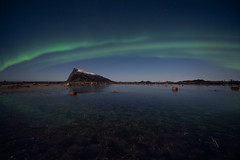 Hoven (eriknst) Tags: longexposure sirui green nightscape landscape calm nature reflection northernlights norvege norwegen 1424 d810 nikon hoven gimsøy henningsvær svolvær winter mountain aurora ice norway lofoten