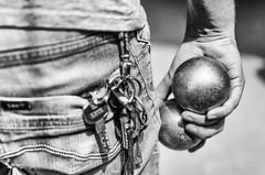 New balls, please (kceuppens) Tags: petanque balls blackandwhite black white bw zwart wit zw zwartwit jeans hand shiny nikond7000 nikon d7000 nikkor nikkor3518dx 35mm dx