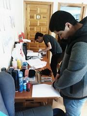 Día 2 . Preparando manualidad - Encuadernación japonesa