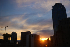 sunset from the hotel window (scienceduck) Tags: 2017 june seattle washington usa us america pacific northwest scienceduck sunset buildings skyline