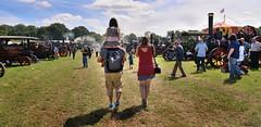 Going to the Cheshire Steam Fair (PentlandPirate of the North) Tags: bigwheel vintage cheshiresteamrally tractionengines daresbury runcorn england fairground outdoorshows girlchildonshoulders