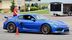 One more of the GT4 (R.A. Killmer) Tags: gt4 porsche cayman fast horsepower speed cone course drive driver skill slide power blue german car autocross race racer worldcars