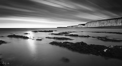 Seven Sisters (Mark Leader) Tags: sevensisters sussex longexposure blackandwhite bw mono monochrome landscape dreamscape seascape