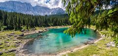 Lago di Carezza (MattiaMc) Tags: lake lago blu azzurro verde natura nature water tree carezza dolomiti montagna mountain latemar karersee
