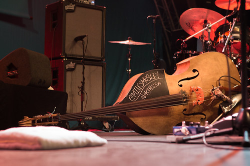 Miles Mosley's double bass
