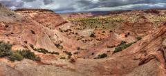 Paria New Discoveries: Site B, from Sky Pocket (Chief Bwana) Tags: az arizona pariaplateau pariacanyon vermilioncliffs navajosandstone panorama psa104 chiefbwana skypocket wavybowl 500views