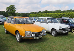 1975 Citroen GS X and Renault 5 (782cc) (Spottedlaurel) Tags: citroen gs hgo996n renault 5 jdk467n