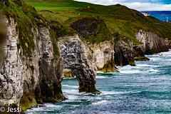 gate to paradise (Felicis_Flower) Tags: stein stone klippe cliff sea meer water wasser irland ireland coast küste gras wiese grün blau green blue