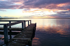 Sunset Jetty at Beacon 19 (Windogxx) Tags: sunset jetty beacon 19 goolwa southaustralia coorong national park clouds