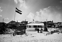 R2-026-11A (David Swift Photography Thanks for 22 million view) Tags: davidswiftphotography newjersey oceancitynj beaches dunes foodstand flags restaurants food sand jerseyshore 35mm film ilfordxp2 yashicat4