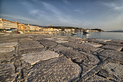 Senj - Croatia (sanzios) Tags: croatia sea sunrise senj istria dalmation mediterranean nehaj fortnehaj fortress nehajfortress adriaticsea europe coastline harbor boat beach mountains sunset travel oldtown anchor