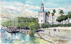 Torre del Oro (P.Barahona) Tags: torre oro sevilla urbano rio arquitectura monumento