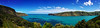 banks pano 1d 4p (Bilderschreiber) Tags: akaroa harbour bucht bight banks peninsula halbinsel panorama blau blue neuseeland newzealand südinsel southisland
