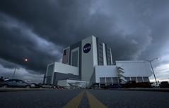 Storm Clouds Roll In Over The Vehicle Assembly Building (NASA on The Commons) Tags: vehicleassemblybuilding vab capecanaveral florida sts127 storms clouds fl usa