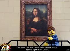 The incredible doings of Chuck Norris #4 - Mona Lisa's smile (y20frank) Tags: lego chucknorris monalisa humor louvre