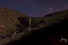 Milky Way - waterfall (jlmm_morales) Tags: nikon 14mm d5100 granada andalucia españa spain via lactea milky way cascada waterfall cielo sky estrellas stars montaña montana verano summer sierranevada vialactea