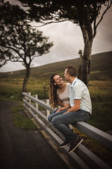 Laughter (Wojtek Piatek) Tags: laugh couple wedding engagement wicklow ireland mountains fence love together trees hills outdoor sony alpha 50mm sigma art