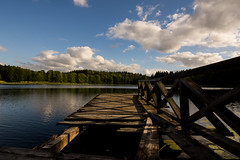 A Broken View (modestmoze) Tags: view broken 2017 500px summer july outside outdoors lithuania deck bridge wooden travel explore shadows sky clouds green trees treeline lines planks brown blue white black day sunny beautiful nature naturephotograph landscape naturelove nikon