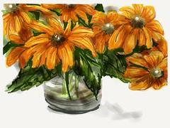 Summer (verplanck) Tags: painting summer ewe flowers art
