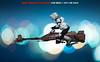 The speeder (I AM LESLIE) Tags: starwars sony scouttrooper speederbike hottoys bokeh blue portrait sideshow bokehwhores