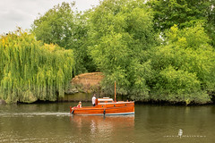 Sunday afternoon on the River Thames ... (Jackie L Matthews) Tags: riverthames richmond boat trees