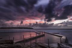 Barriers (Crouchy69) Tags: sunrise dawn landscape seascape ocean sea water coast clouds sky rocks chain fence south curl beach pool sydney australia