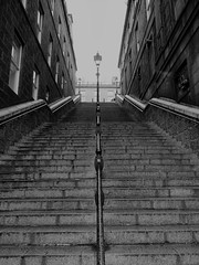 Rain Stpe (Ian Robin Jackson) Tags: steps aberdeen scotland city urban sony grey rain gloomy lines windows ascending