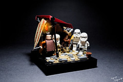 Streets of Jedha (RagingPhotography) Tags: lego star wars rogue one jedha planet desert market street stormtrooper hovertank trooper scavengers pathway galactic empire imperial plastic toy toys minifigure minifig figure ragingphotography d3300