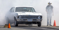 Drag Racing (Paul Rioux) Tags: automobile automotive auto race car drag racing burnout smoke chevrolet nova white westernspeedway sislra