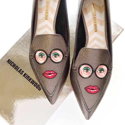 Bespoke Nicholas Kirkwood Iris Apfel shoes