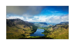 Buttermere and Crummockwater from Fleetwith Pike - Explore 18.06.2017 - No.25 (muddybootsuk) Tags: fleetwithpike lakedistrict buttermere crummockwater loweswater melbreak redpike highstile scarthgappass honister haystacks wainwright sun landscape water lakes mountains muddybootsuk cumbria fells tarns mist clouds hills unitedkingdom england greatbritain northwest grimupnorth northerner hiking fellwalking