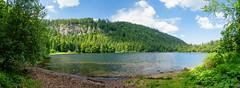 Panorama vom Feldsee (jochenhaesler) Tags: feldsee feldberg wasser water landschaft landscape bäume tannen trees himmel wolken heaven clouds felsen sony sonyalpha sonyalpha7 sonyalpha7m2 sonyalpha7ii alpha7 alpha7m2 alpha7ii ilce ilce7 ilce7m2 ilce7ii bw sonyzeiss zeiss polfilter wald
