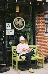 L0927C1-R01-012 (jana_markinen) Tags: newyork nyc nyclife astoria queens travel travelling spring spring2017 graffitti street streetphotography streetlife streetart art people portrait analog praktica leica pentacon 35mm film fujicolor fujicolor200 reflection colour city urban ubran space