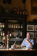 Man in Bar, Amsterdam (EC1London) Tags: portrait portraits amsterdam interior interiors bars drinking beard dutch holland netherlands sidelight