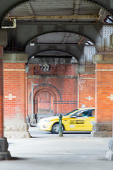 Taxi Ride (Keith Midson) Tags: melbourne taxi car transport road underpass bridge railwaybridge motionblur city urban