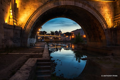 Vatican Night Arch (aryanphotography) Tags: illuminate night anthonyrryan arr calm church anthonyryan water reflections city cityscape rome hdr arch ryan tiber vatican river roma scenic italy architecture nightphotography nightscape anthony bridge arrtography