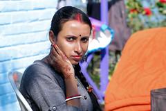 Portrait of a Bride (pallab seth) Tags: bride newlywed nepali nepalese woman portrait face mankhimraitemple eastsikkim mankhim rongli oldsilkroute faces indian sikkimese sikkim asia saarc happy joy travel traveling tourism image smile smiling happiness digital samsungnx1 samsungnx85mmf14edssalens streetportrait streetphotography aritar mankhimdara